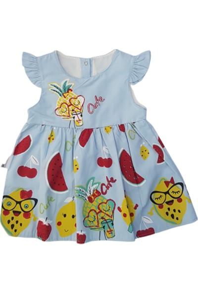 Bıdırık Kids 826 Kız Bebek Limon Ve Karpuz Baskılı Elbise