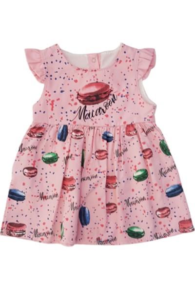 Bıdırık Kids 827 Kız Bebek Makaron Baskılı Elbise