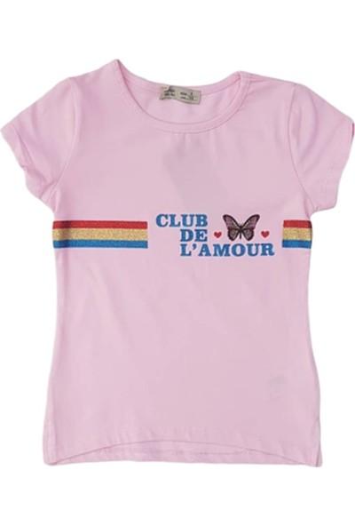 Minnak Kids 10694 Club De L'Amour Baskılı Kız Çocu T-Shirt