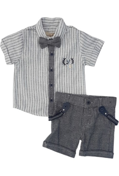 Lay Lay Kids 1031 Erkek Bebek Papyonlu Şortlu Takım