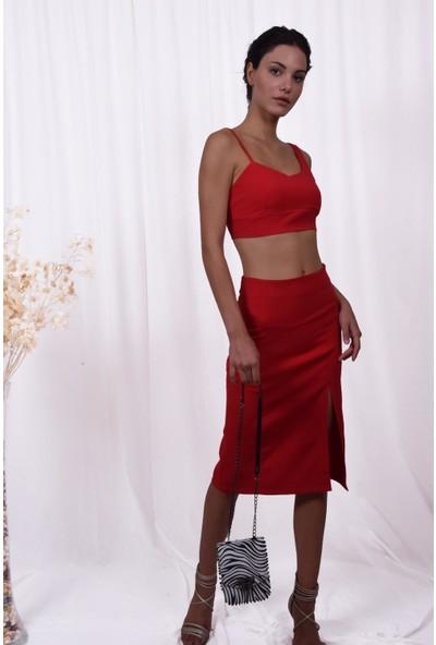 The Most Fashion Kadın Etek Büstiyer Takım