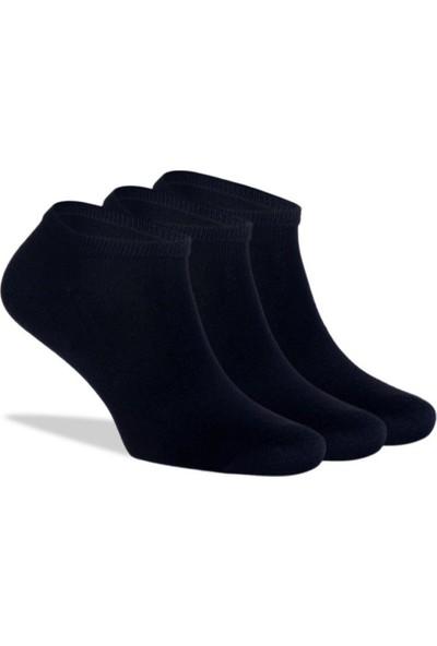 Brogetti Sneakers Siyah Unisex Çorap Bambu Kısa Soket 3'lü Paket