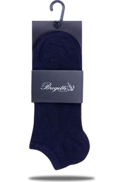 Brogetti Sneakers Lacivert Erkek Çorap Bambu Kısa Soket 3'Lü Paket