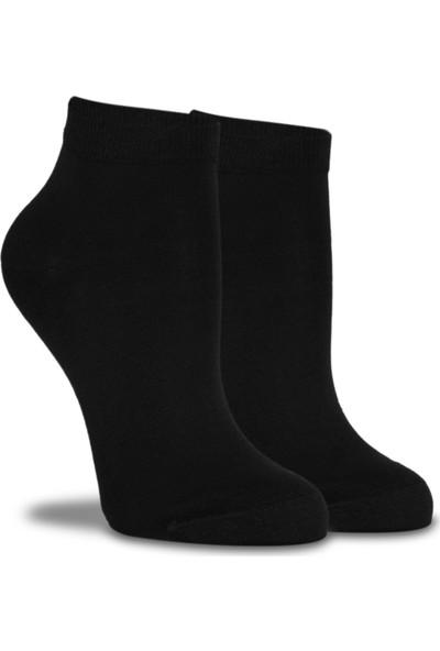 Brogetti Siyah Merserize Kısa Soket Çorap