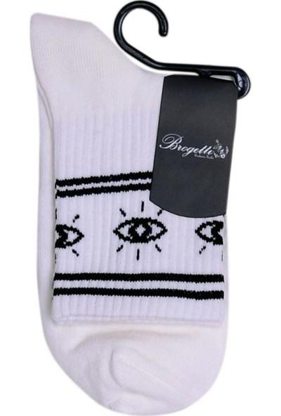 Brogetti Serena Göz Desenli Tenis Çorap