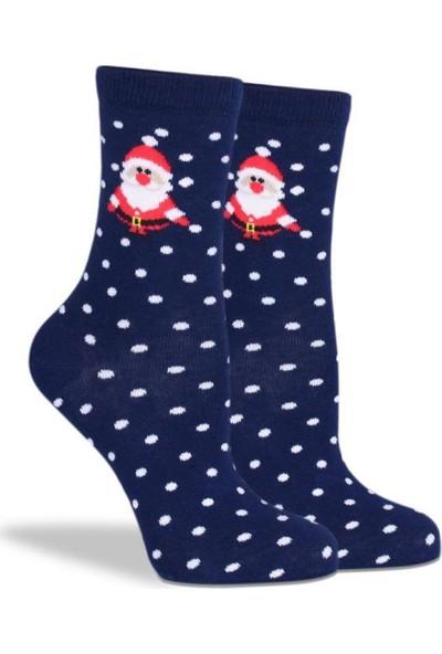 Brogetti Noel Babalı Çorap Beyaz Puantiyeli