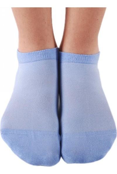 Brogetti Bambu Mavi Kısa Soket Çorap