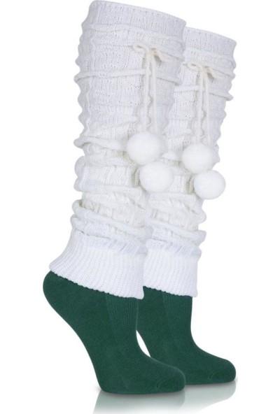 Brogetti Bayan Tozluk Çorap Ekru Reni