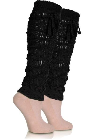 Brogetti Bayan Tozluk Çorap Siyah Laces