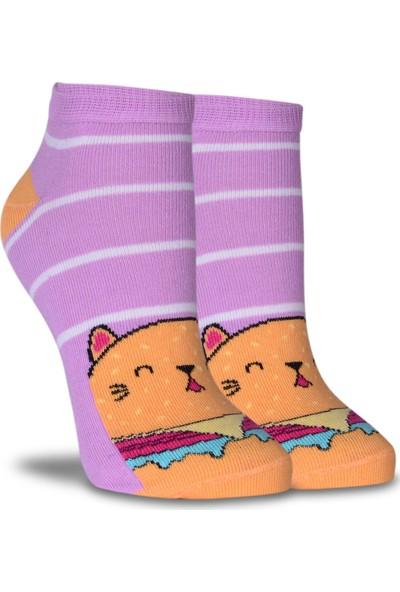 Brogetti Sevimli Kedi Desen Soket Çorap