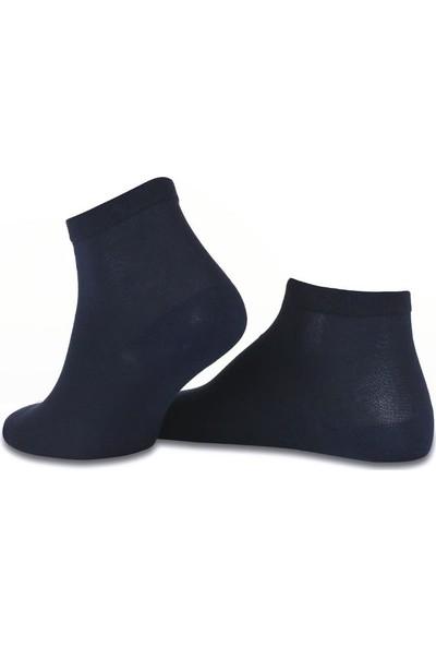 Brogetti Kısa Bambu Çorap Koyu Lacivert