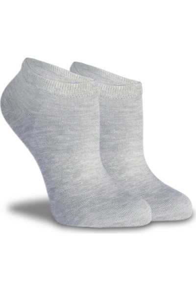 Socks Concept Gri-Yavruağzı Renk 2'Li Paket Kısa Soket Çorap