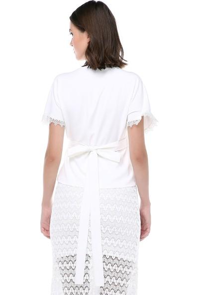 Sümeyra Gültekin Dantel Detaylı Bluz