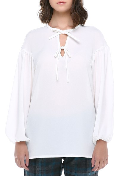 Sümeyra Gültekin Bacıklı Krep Bluz
