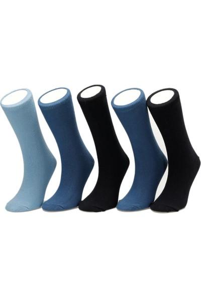 i Cool Duz 5Li Skt-B Mavi Multi Erkek Çocuk Soket Çorap
