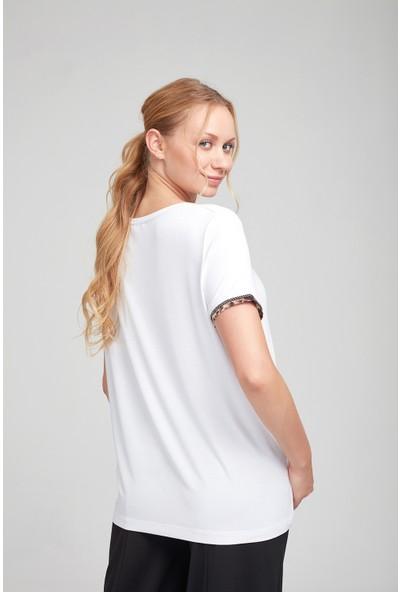 Optique Kadın Cebi Boncuklu Payetli Bluz