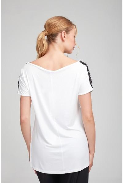 Optique Kadın Önü Kare Taşlı Bluz