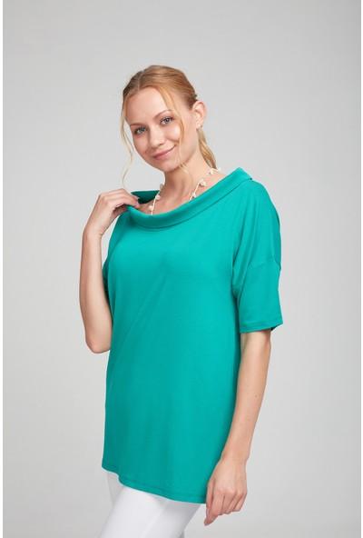 Optique Kadın Kayık Yaka Truvakar Bluz