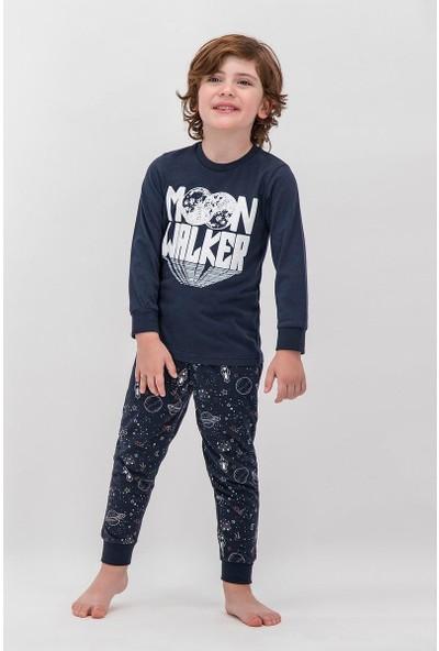 Arnetta Moon Walker Lacivert Erkek Çocuk Pijama Takımı