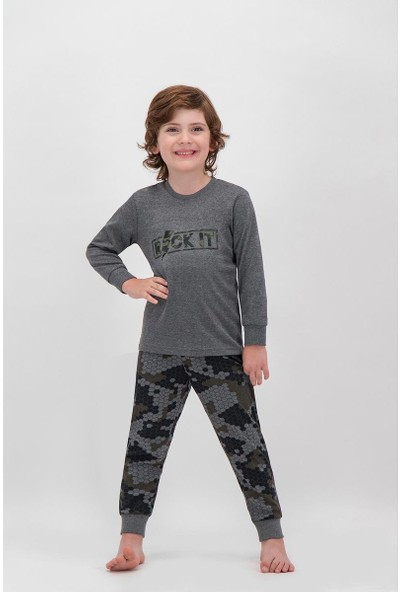 Arnetta Rock It Kamuflaj Koyu Grimelanj Erkek Çocuk Pijama Takımı