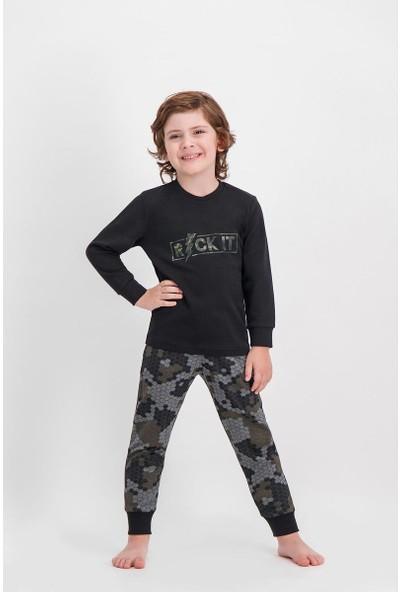 Arnetta Rock It Kamuflaj Siyah Erkek Çocuk Pijama Takımı