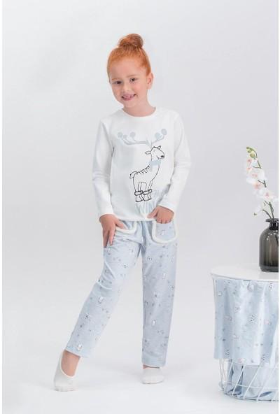 Arnetta Happy Winter Krem Kız Çocuk Pijama Takımı