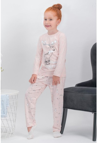 Arnetta Happy Winter Pembemelanj Kız Çocuk Pijama Takımı