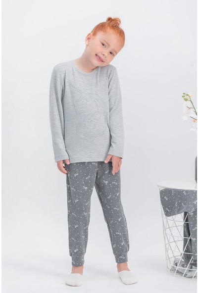 Arnetta Unicorn Fly Only Karmelanj Kız Çocuk Pijama Takımı