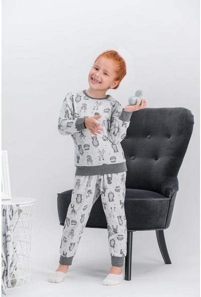 Arnetta Little Fox Açık Grimelanj Kız Çocuk Pijama Takımı