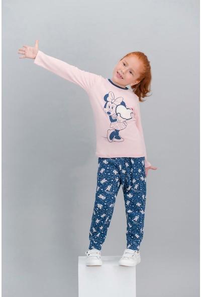 Minnie Mouse Lisanslı Pembe Kız Çocuk Pijama Takımı