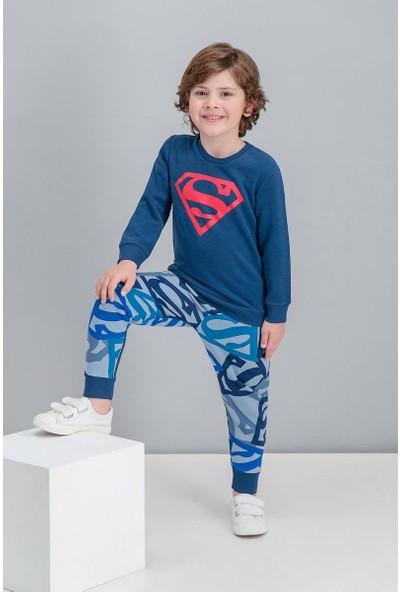 Superman Lisanslı Lacivert Erkek Çocuk Eşofman Takımı