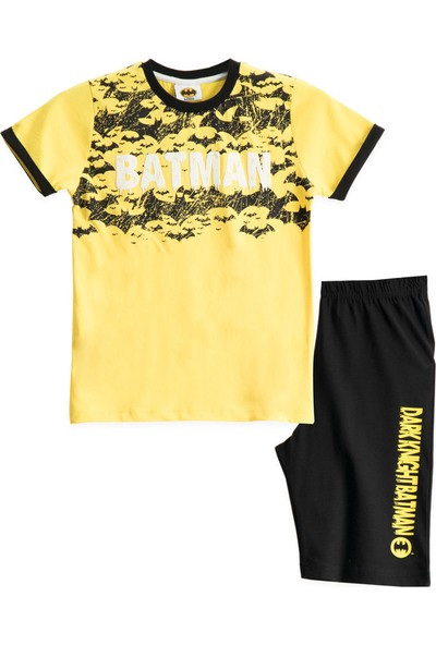 Batman Lisanslı Mimoza Erkek Çocuk Bermuda Takımı