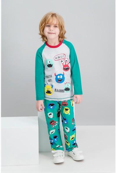 Roly Poly Monster Naps Karmelanj Erkek Çocuk Pijama Takımı