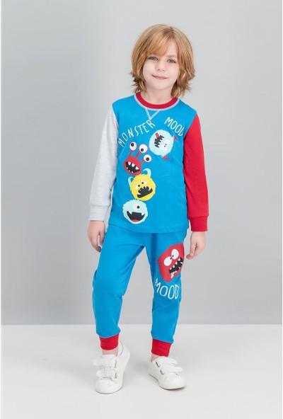 Roly Poly Monster Mood Cobalt Mavi Erkek Çocuk Pijama Takımı