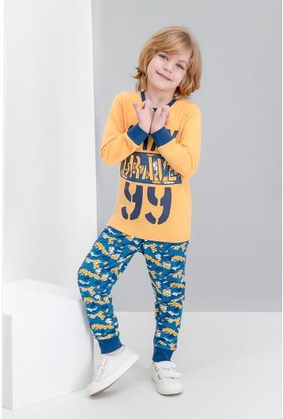 Roly Poly Brave Kamuflaj Sarı Erkek Çocuk Pijama Takımı