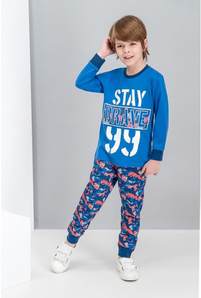 Roly Poly Brave Kamuflaj Saks Erkek Çocuk Pijama Takımı