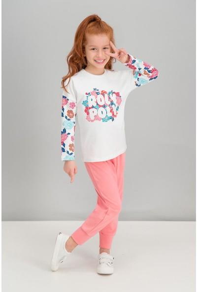 Roly Poly Flowers Krem Kız Çocuk Pijama Takımı