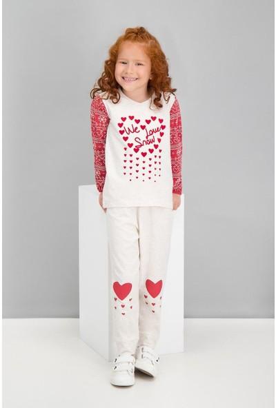 Roly Poly Winter Girls Kremmelanj Kız Çocuk Pijama Takımı