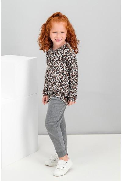 Roly Poly Leopard Kremmelanj Kız Çocuk Eşofman Takımı