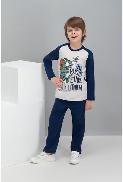 Roly Poly Rugby Dinosaur Kum Beji Erkek Çocuk Pijama Takımı