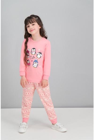 Roly Poly Şeker Pembe Kız Çocuk Pijama Takımı