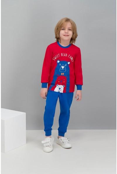 Roly Poly Kırmızı Erkek Çocuk Pijama Takımı