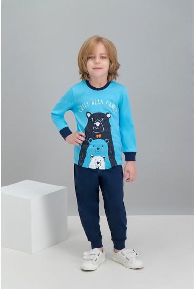 Roly Poly Mavi Erkek Çocuk Pijama Takımı