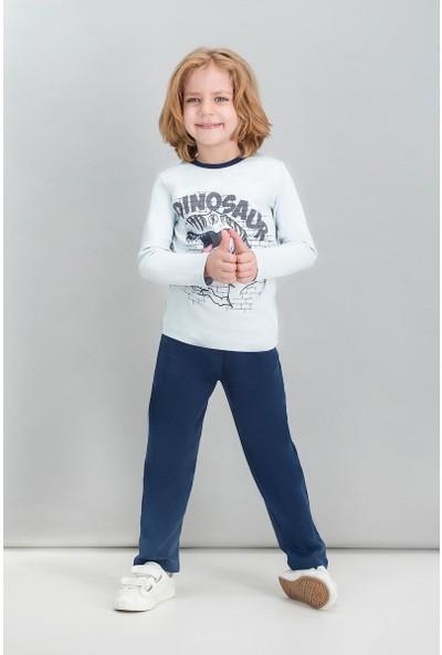 Roly Poly Krem Erkek Çocuk Pijama Takımı