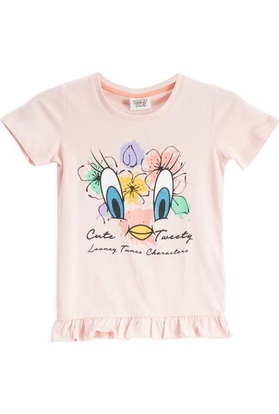 Looney Tunes Lisanslı İnci Pembe Kız Çocuk T-Shirt