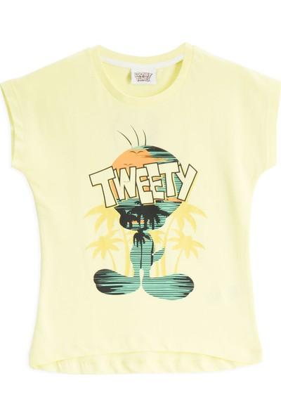 Looney Tunes Lisanslı Limon Sarı Kız Çocuk T-Shirt