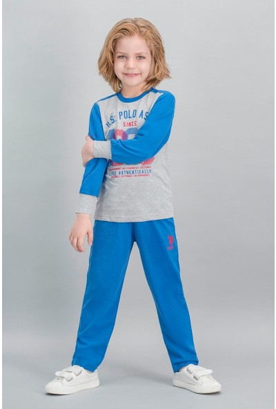 U.S. Polo Assn Lisanslı Grimelanj Erkek Çocuk Pijama Takımı