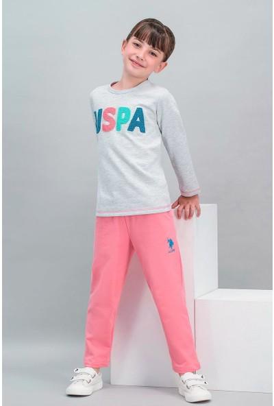 U.S. Polo Assn Lisanslı Karmelanj Kız Çocuk Eşofman Takımı
