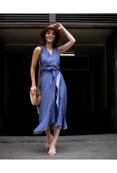 Bespika Kadın Kot Görünümlü Elbise