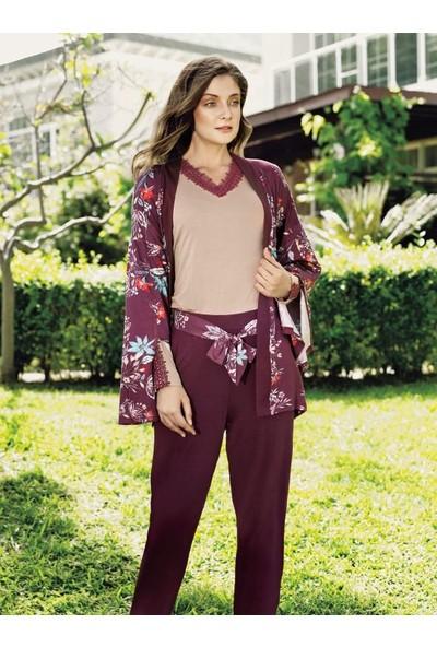 Fantasy 1046 Kadın Uzun Kollu Kadın Sabahlıklı Pijama Takımı